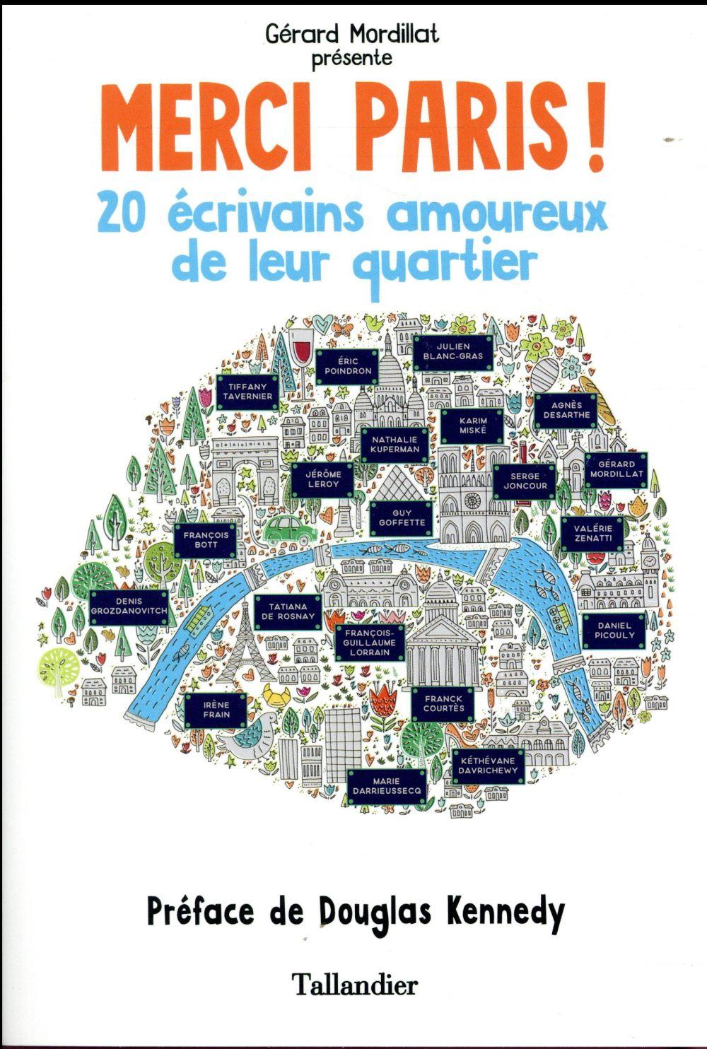Merci Paris ! 20 écrivains amoureux de leur quartier