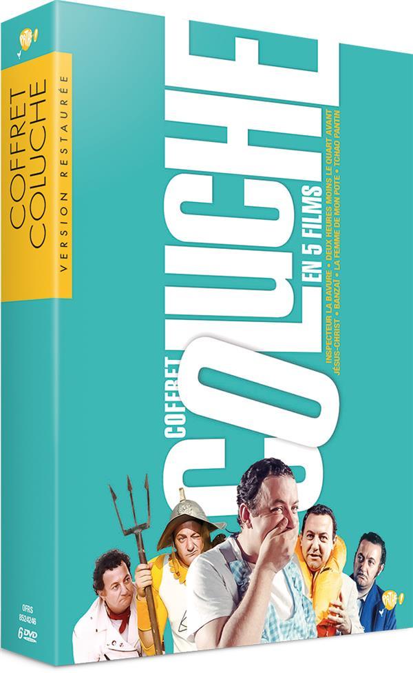 Coluche - Coffret 5 films : Tchao Pantin + Inspecteur La Bavure + Deux heures moins le quart avant Jésus-Christ + Banzaï + La Femme de mon pote