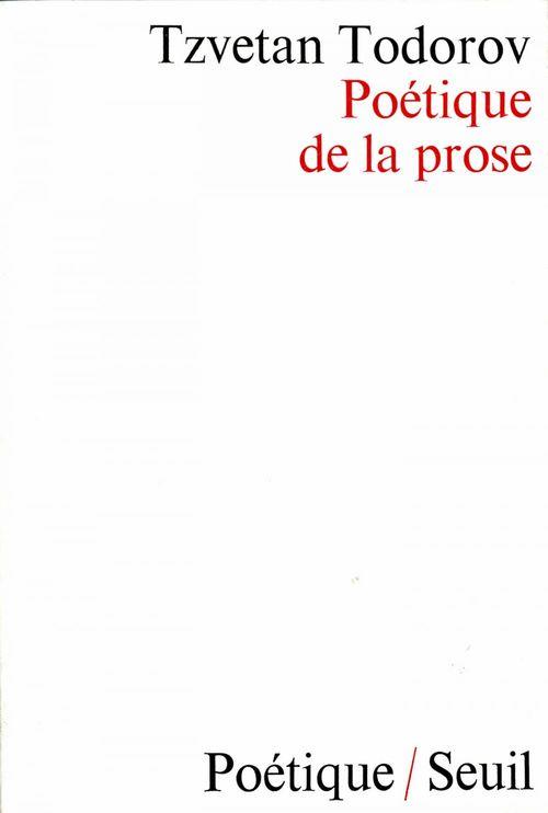 Poétique de la prose