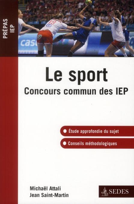 Le sport ; concours commun des IEP