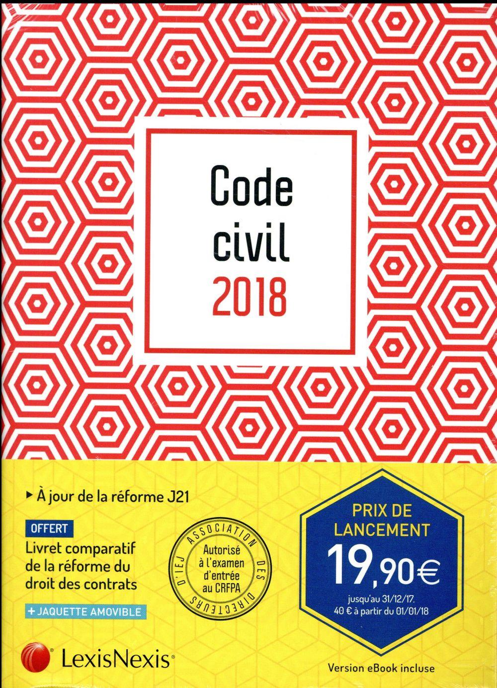 Code civil 2018 ; motif graphique