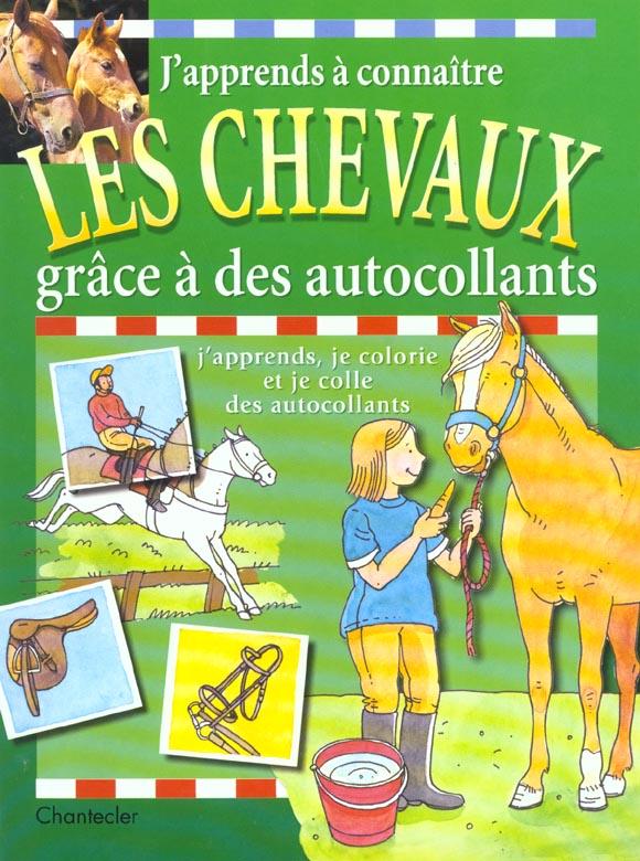 J'apprends a connaitre les chevaux grace a des autocollants x3