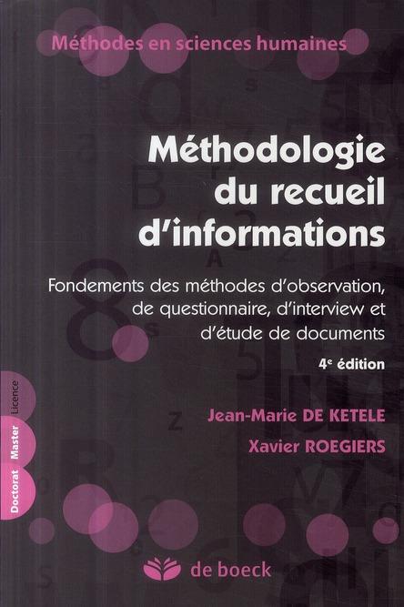 Methodologie Du Recueil D'Informations