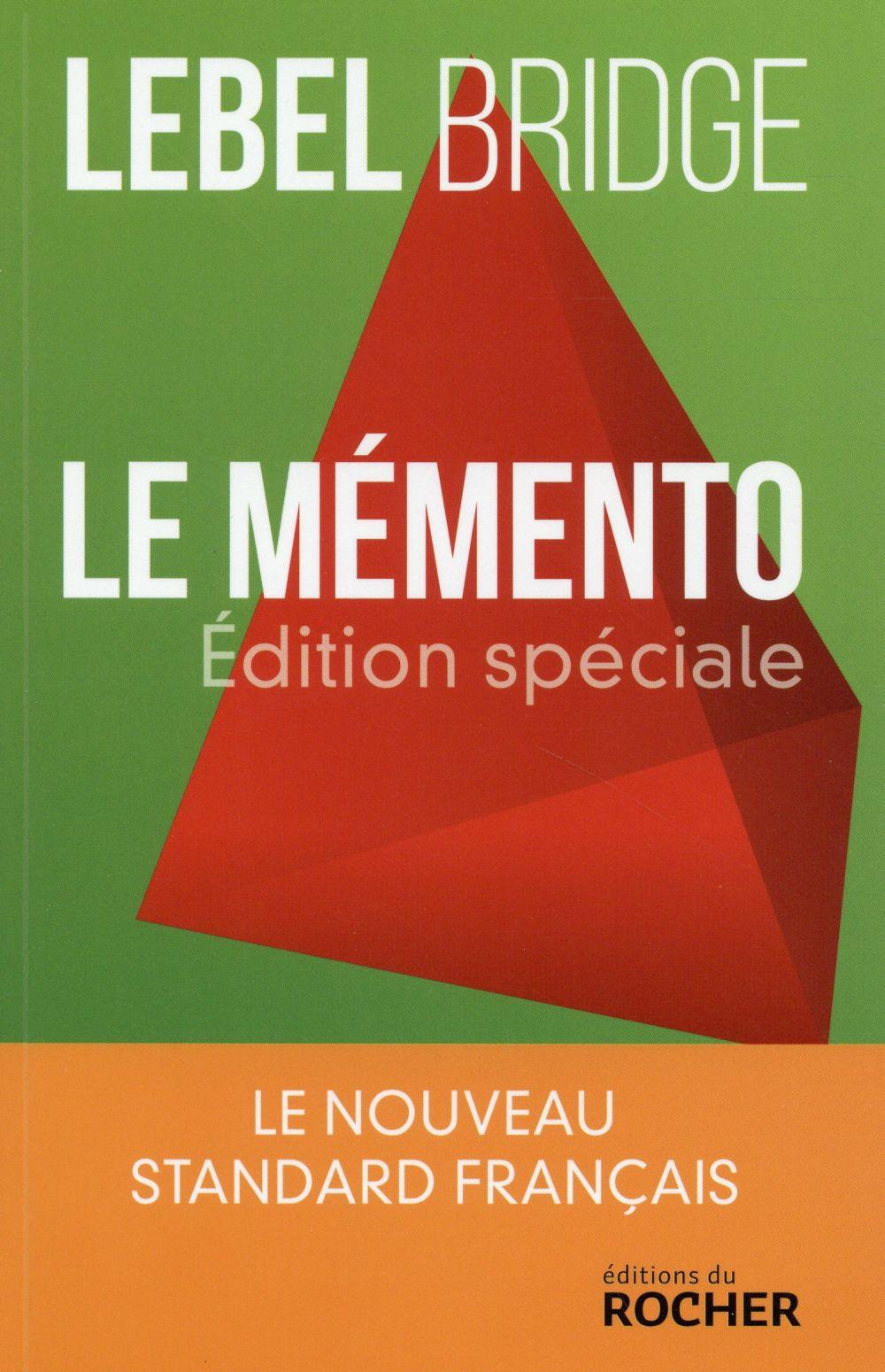 Le mémento ; édition spéciale