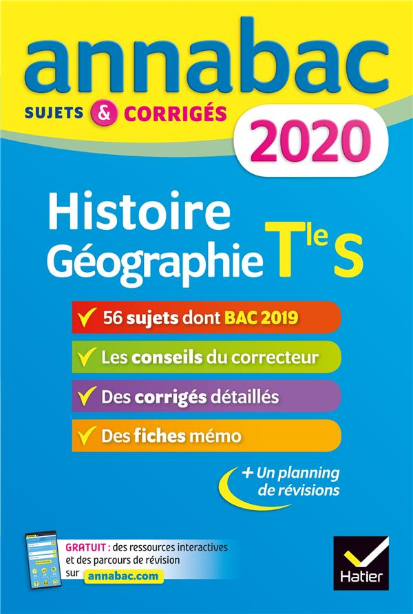 Annabac ; Histoire Geographie ; Terminale S