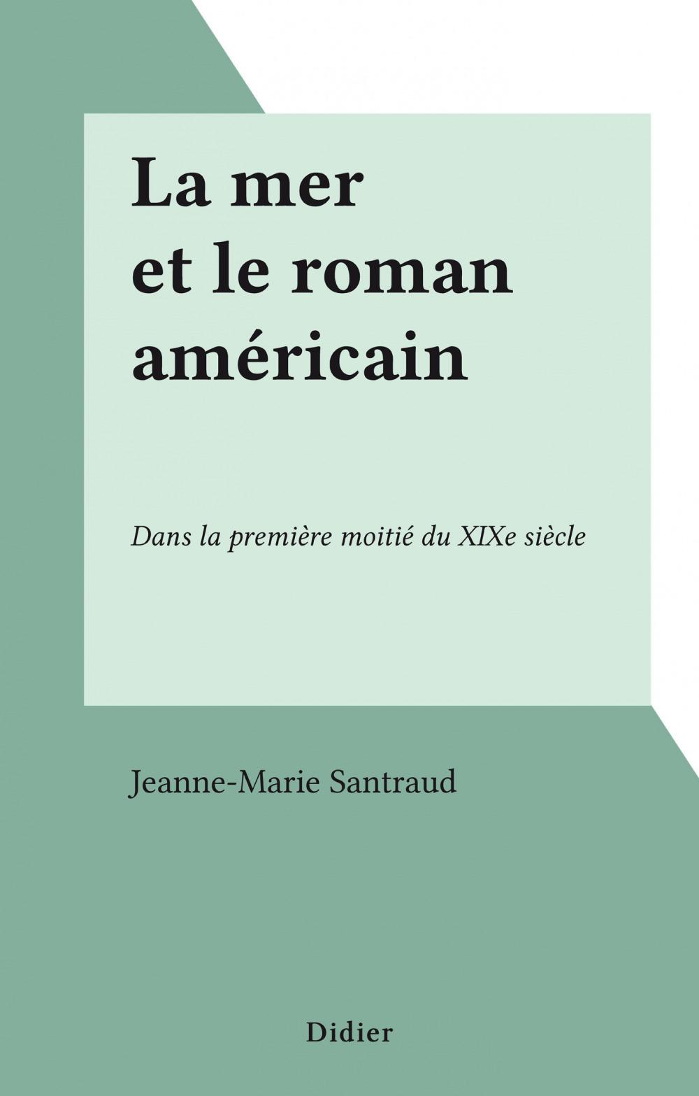 La mer et le roman américain