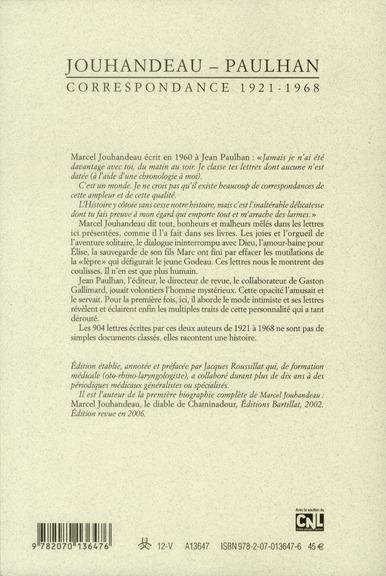 Les cahiers de la NRF ; correspondance 1921-1968