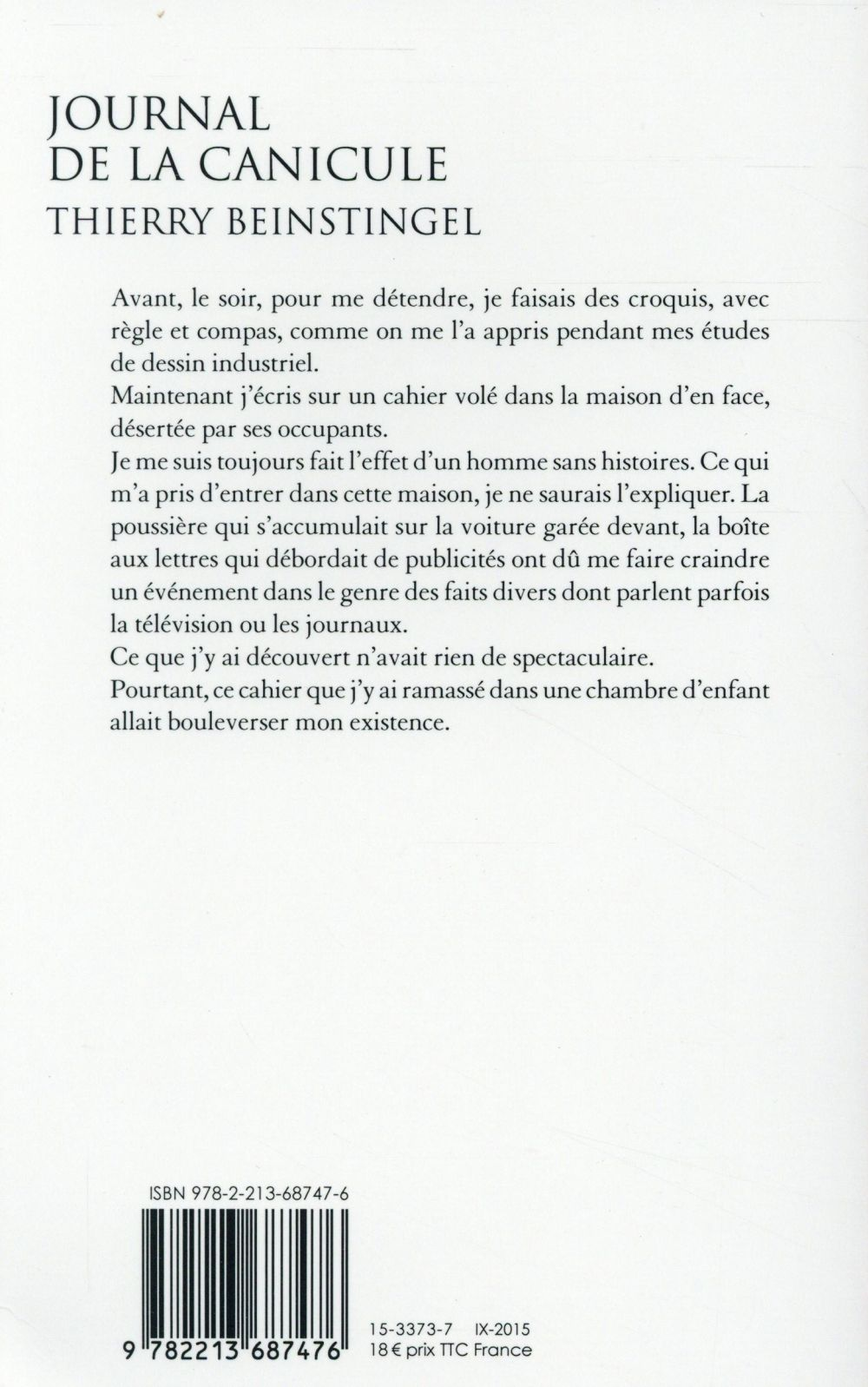 Journal de la canicule