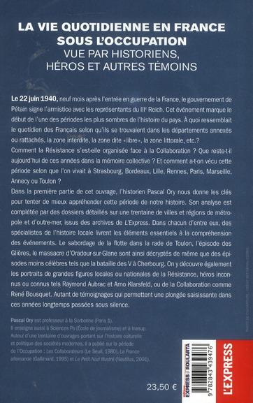 Villes françaises sous l'occupation ; l'histoire au quotidien