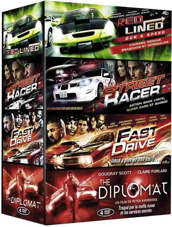 Coffret Action Drive : Red Lined - Gun & Speed + Street Racer + Fast Drive + The Diplomat
