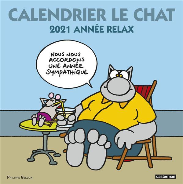 le chat ; calendrier (édition 2021)