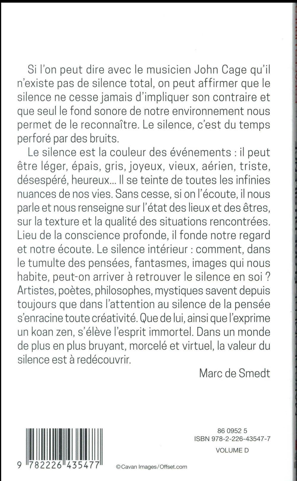 éloge du silence (édition 2018)