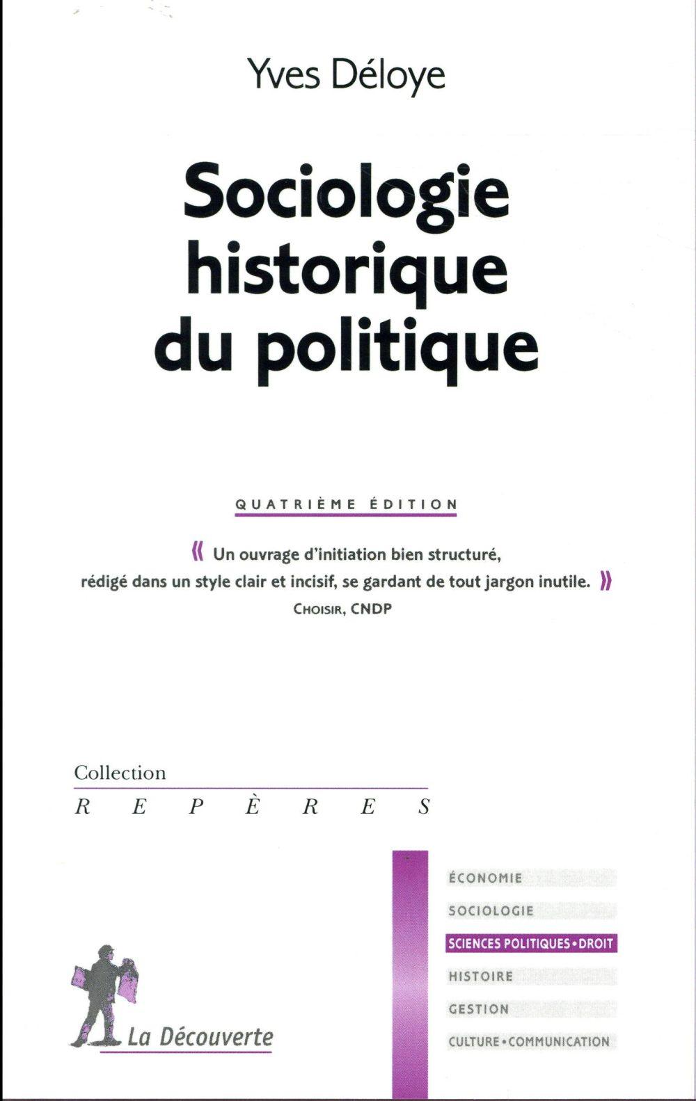 SOCIOLOGIE HISTORIQUE DU POLIT