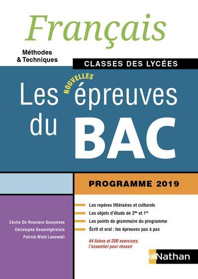 Français ; les épreuves du bac ; classes des lycées (édition 2019)