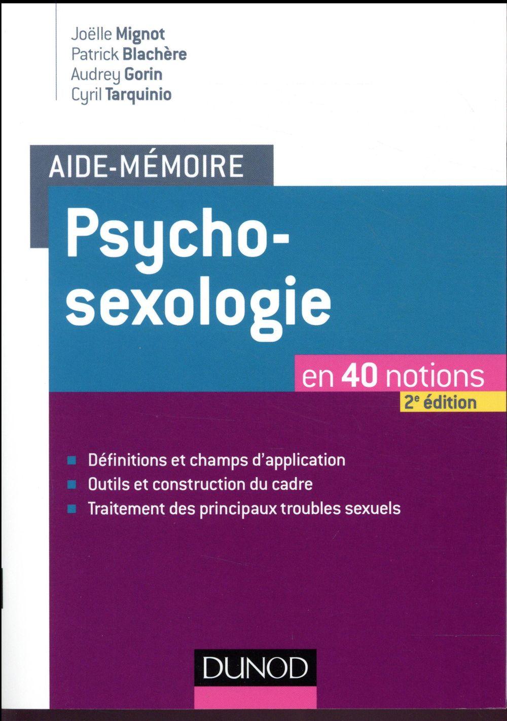 Psychosexologie en 40 notions (2e édition)