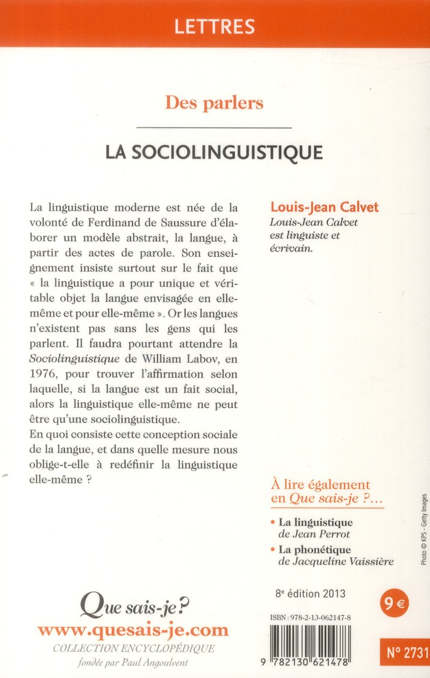 La sociolinguistique (8e édition)