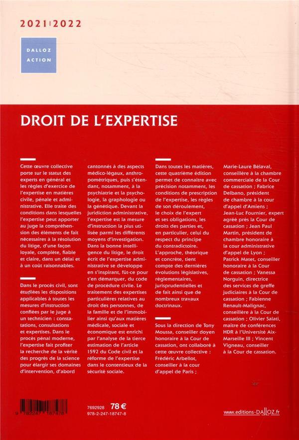 Droit de l'expertise (édition 2020/2021)