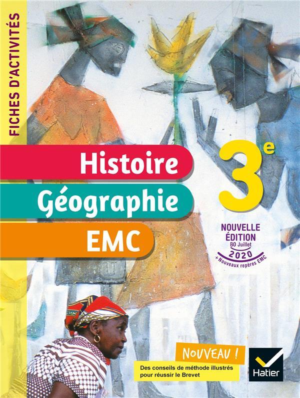 fiches d'activités histoire-géographie-EMC ; 3e ; cahier élève (édition 2021)