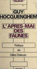 Vente Livre Numérique : L'après-mai des faunes  - Guy Hocquenghem