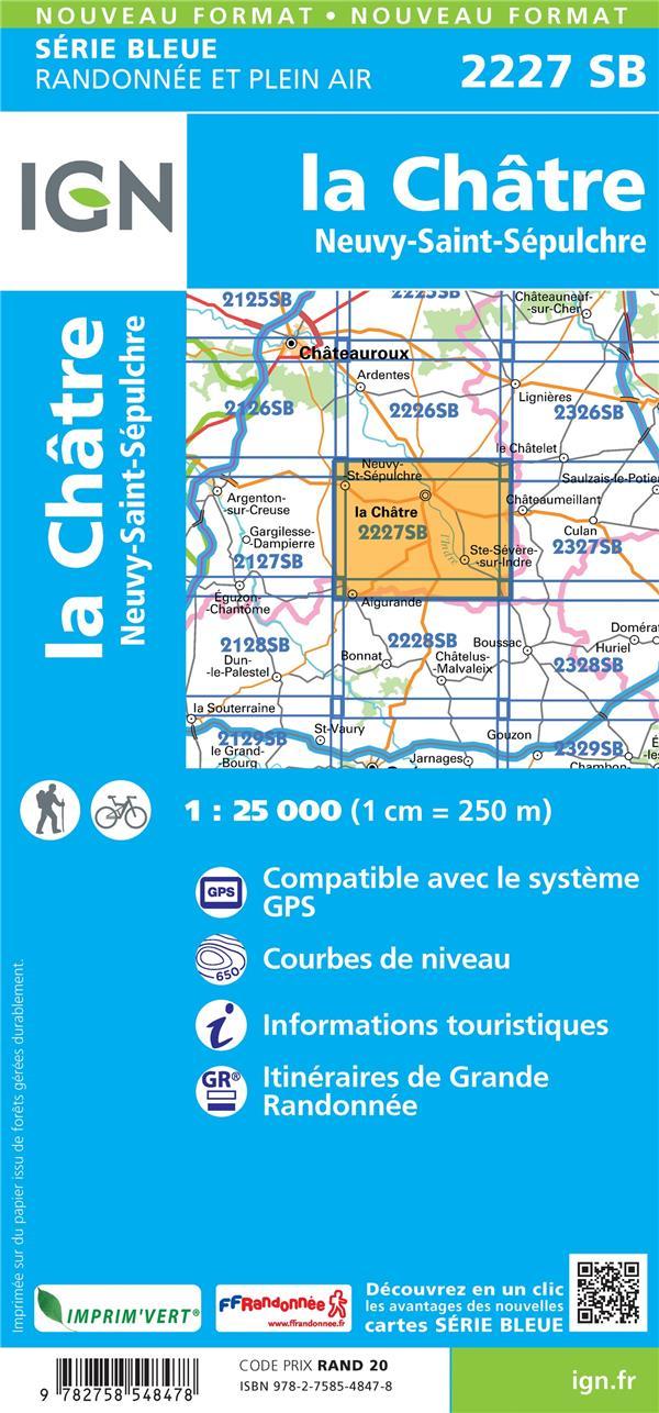 2227SB ; la Châtre, Neuvy-St-Sépulchre