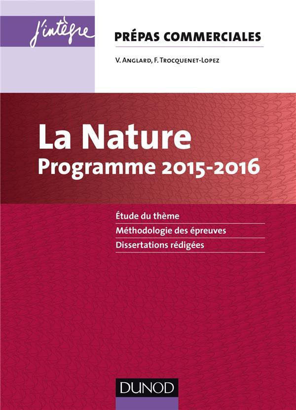 La Nature ; Prepas Commerciales ; Programme 2015-2016