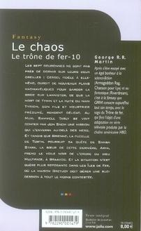 Le trône de fer t.10 ; le chaos