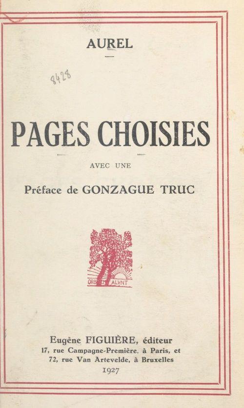 Vente Livre Numérique : Pages choisies  - Aurel