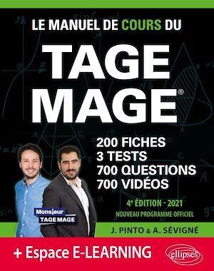 Le manuel de cours du Tage Mage  3 tests blancs + 200 fiches de cours + 700 questions + 700 vidéos (édition 2021)