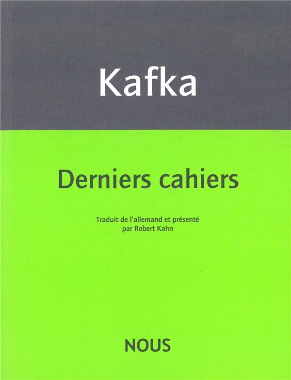 Derniers fragments (1922-1924)