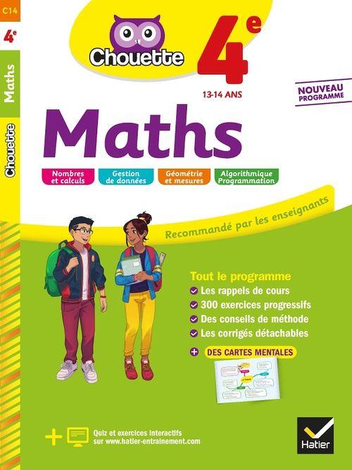 Chouette entraînement T.14 ; maths ; 4e ; cahier d'entraînement et de révision