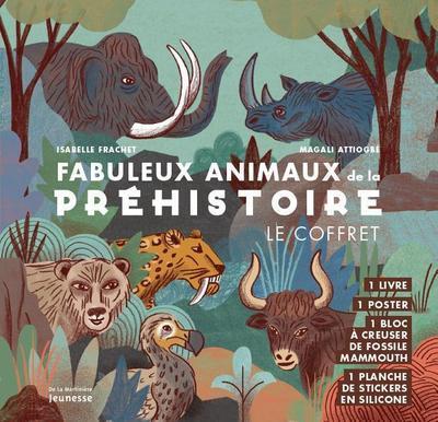 Fabuleux animaux de la préhistoire ; le coffret