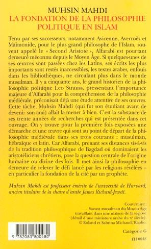 la fondation de la philosophie politique en islam - la cite vertueuse d'alfarabi