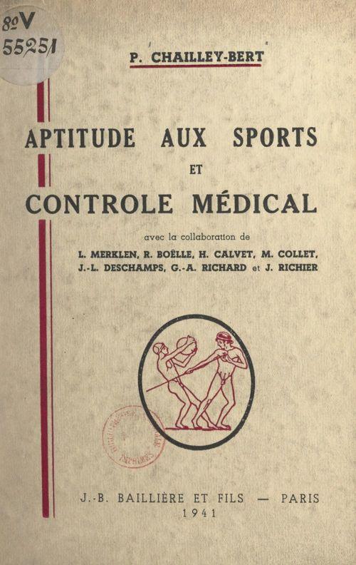 Aptitude aux sports et contrôle médical
