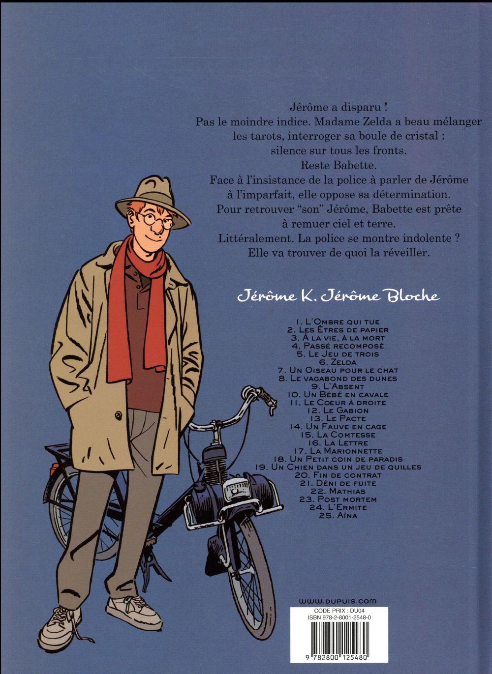 Jérôme K. Jérôme Bloche t.9 ; l'absent