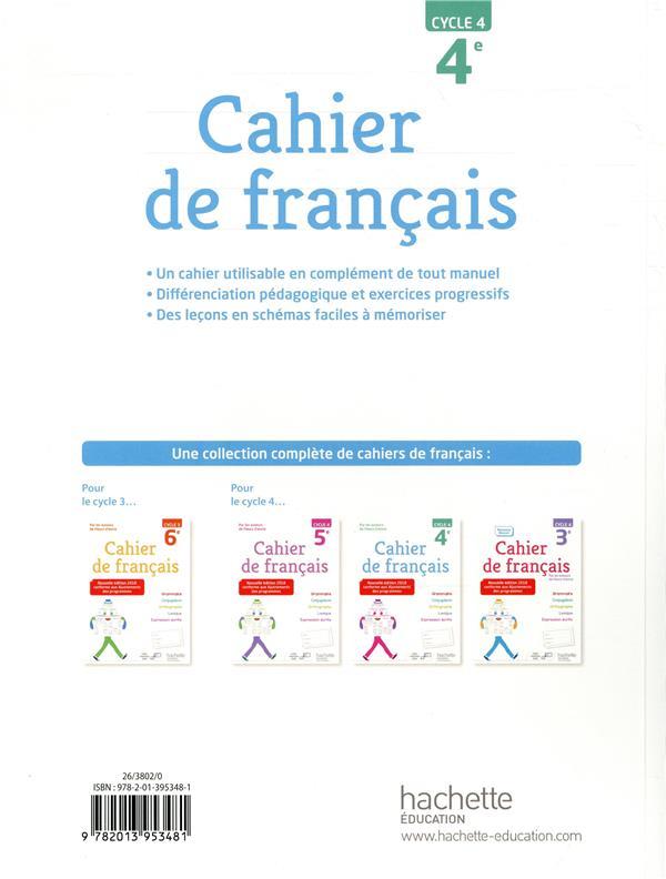 Cahier De Francais Cycle 4 4e Edition 2018 Bertagna