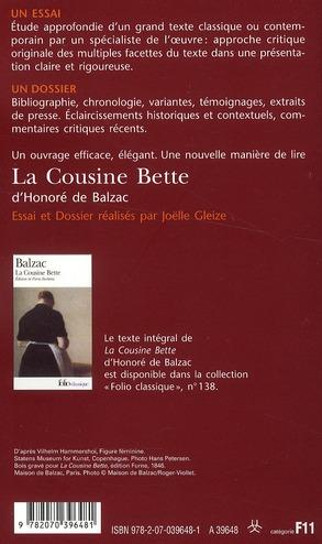 la cousine Bette, d'Honoré de Balzac