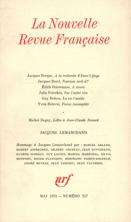 Numeros speciaux - t257 - jacques lemarchand - (1908-1974)