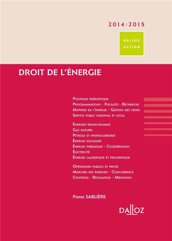 Droit de l'énergie (édition 2014/2015)