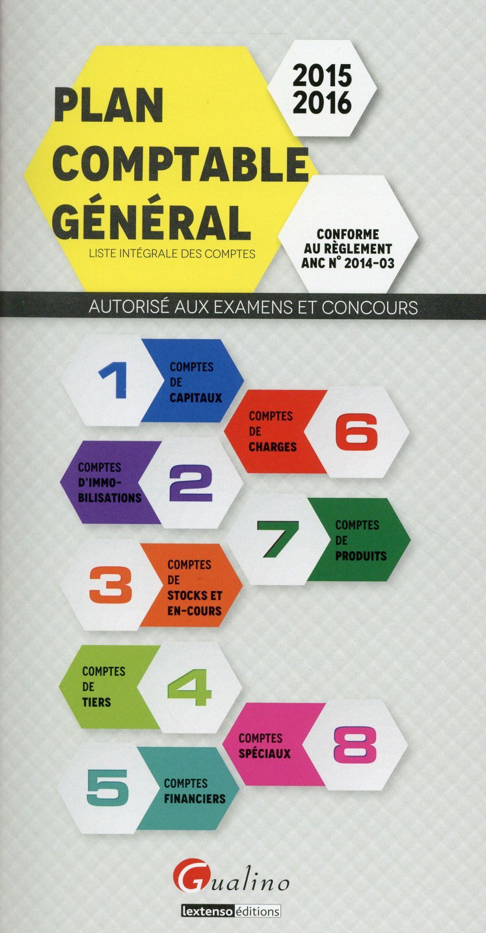 Plan comptable général (édition 2015/2016)
