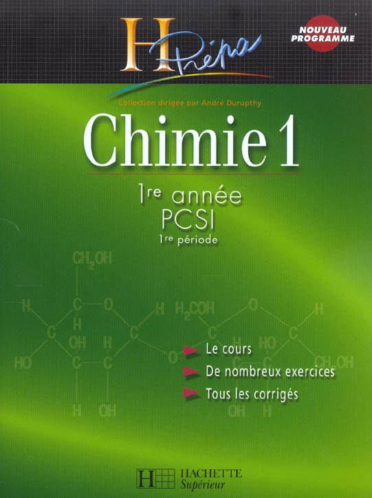 Chimie 1re Annee Pcsi (1re Periode)