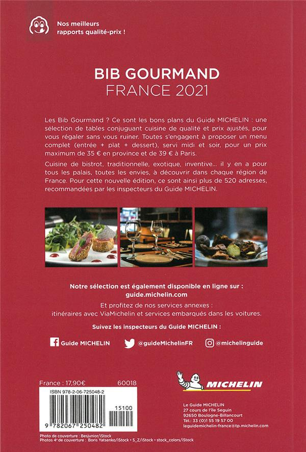 Guide rouge ; bib gourmand France (édition 2021)