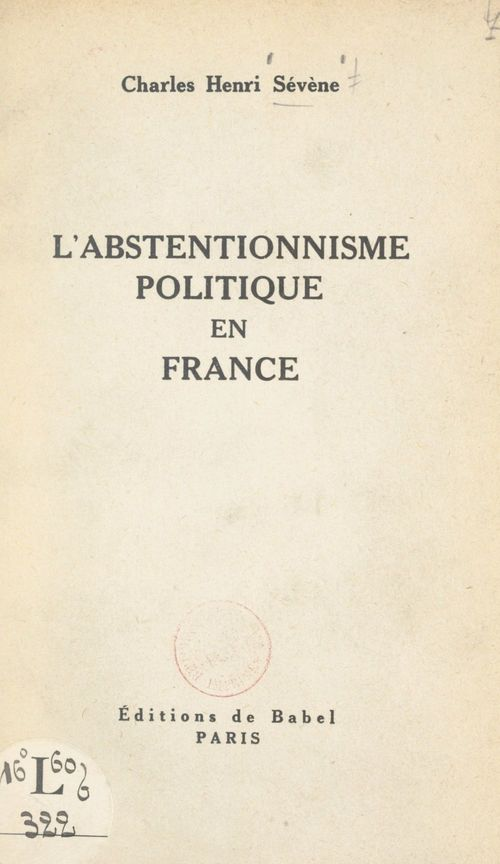 L'abstentionnisme politique en France