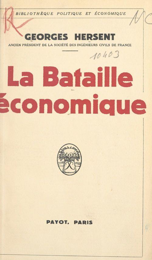 La bataille économique