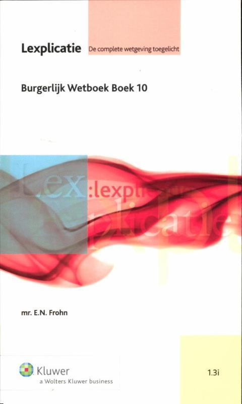 Burgerlijk wetboek - boek 10