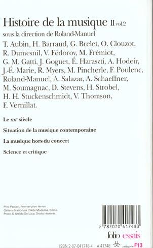 Histoire de la musique - vol02 - du xviii  siecle a nos jours 2