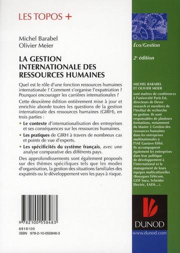 La gestion internationale des ressources humaines (2e édition)