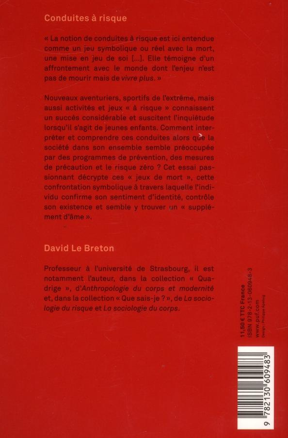 Conduites à risque (3e édition)