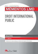 Vente Livre Numérique : Mémentos LMD - Droit international public - 5e édition  - Michel Deyra
