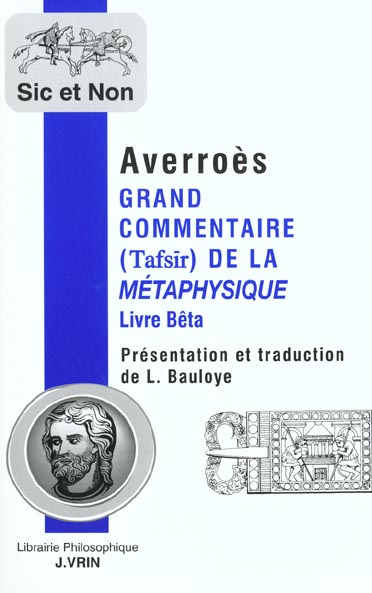 Grand commentaire de la metaphysique d'aristote live beta