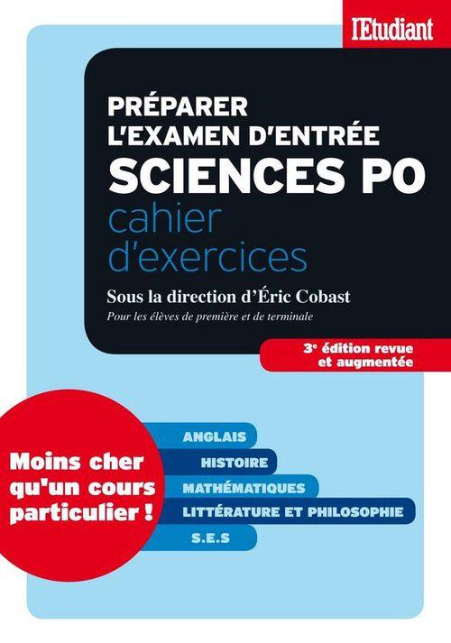Préparer l'examen d'entrée sciences po - Cahier d'exercices S.E.S (Sciences Economiques et Sociales)